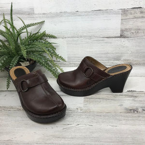Born Brown Mule Clogs [487s4]